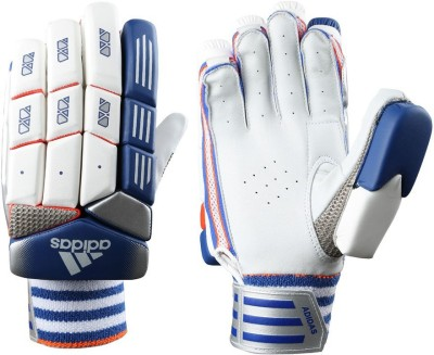 Adidas BG SL 22 PRO V1 Batting Gloves (M, White, Blue, Red)