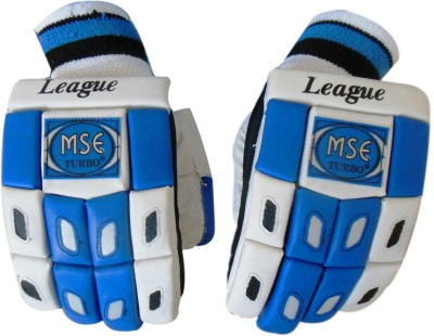 Turbo LEAGUE Batting Gloves (Men, White, Blue)