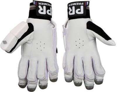 PR ARGBG03 Batting Gloves (M, White, Silver, Black)