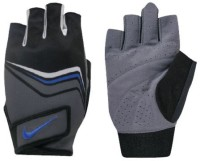 Nike Mens Core Lock Training Gym & Fitness Gloves (L, Grey, Black, Blue)