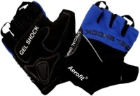 Aerofit 02-2117M Gym & Fitness Gloves (M, Black, Blue)