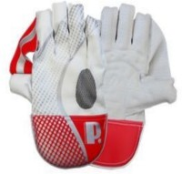 Protos Professional Wicket Keeping Gloves (Men, White, Red)