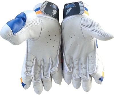 VSP Platino Batting Gloves (Youth, White, Blue)