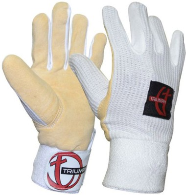 Triumph Wicket Keeper Inner Gloves (Free Size, White)