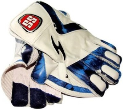 SS Le Wicket Keeping Gloves (Men, White, Blue)