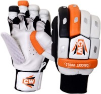 CW Crown Batting Gloves (Men, Orange, White, Black)