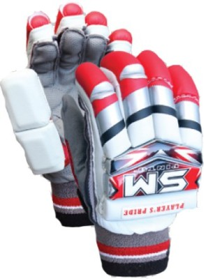 SM Player's Pride Batting Gloves (Men, Red, Grey, Multicolor)