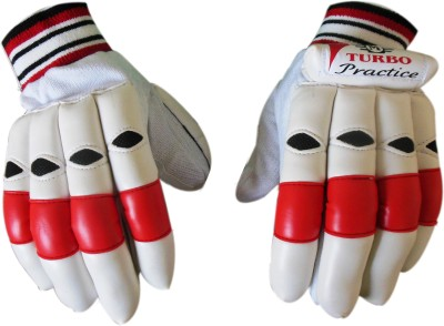 TURBO PRACTICE Batting Gloves (Youth, White, Red)
