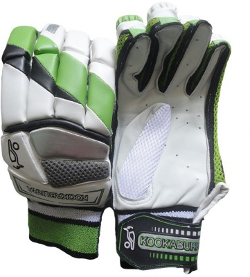 Kookaburra Kahuna 600 Batting Gloves (Men, White, Green, Grey)