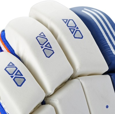 Adidas BG ROOKIE V1 16 Batting Gloves (M, White, Blue, Red)