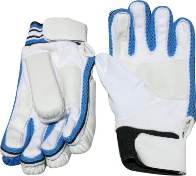 RS Robinson Microlite Batting Gloves (Boys, White, Blue)