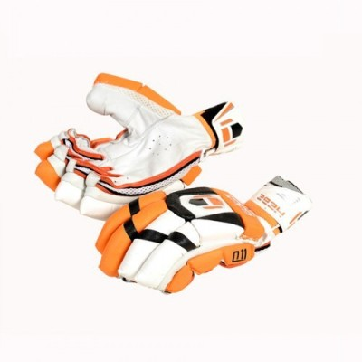 Hebe Q11 Batting Gloves (Men, Orange, White)