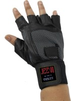 Jeevi Multipurpose Finger Less Gloves For Bike Riding & Gym & Fitness Gloves (Free Size, Multicolor)