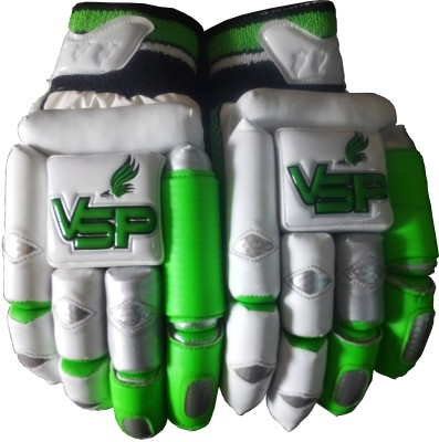 VSP Caribbean Batting Gloves (Youth, White, Green)