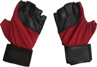 Cp Bigbasket Sheep Leather Red & Black Gym & Fitness Gloves (Free Size, Red, Black)