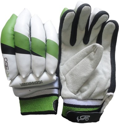 Kookaburra Kahuna 350 Batting Gloves (Youth, White, Orange, Black)