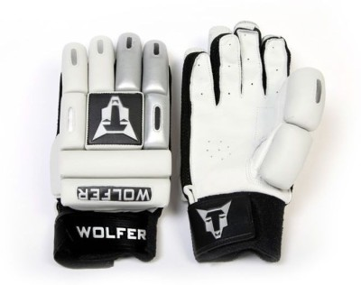 Wolfer Feather Weight (Right Hand) Batting Gloves (Size-9, Silver, White)