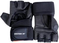 Vector X VX-500 Gym & Fitness Gloves (XL, Black)