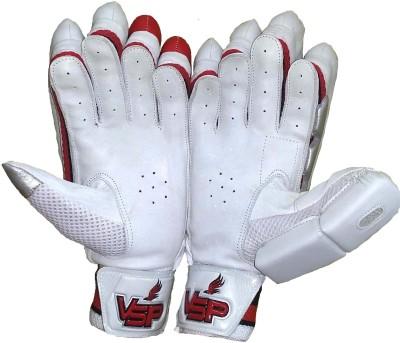 VSP Shield Batting Gloves (Youth, White, Red)