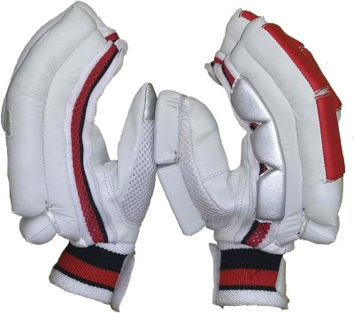 VSP Shield Batting Gloves (Youth, White, Red)