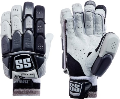 SS Milenium Pro Batting Gloves (Men, White, Black)