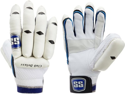 SS Club Deluxe Batting Gloves (Men, White, Blue)