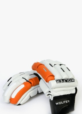Wolfer Player Edition (Right Hand) Batting Gloves (Men, Orange, White)