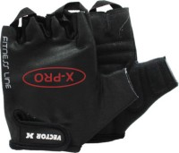 Vector X VX 300 PRO Gym & Fitness Gloves (L, Black)