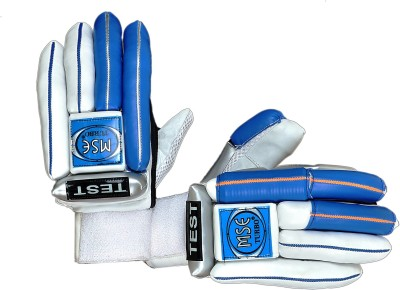 Turbo MSE TEST LITE Batting Gloves (Men, White, Blue)