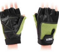 Liveup Training Gloves Gym & Fitness Gloves (Green, Black)