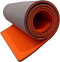 Aerolite Super Soft Double Color Yoga Orange, Grey 6.5 Mm Mat