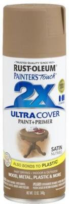 Rust-Oleum Painter's Touch Satin Nutmeg Spray Paint 340 ml