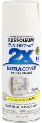 Rust-Oleum Painter's Touch Satin Blossom White Spray Paint 340 ml