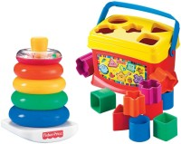 Fisher-Price Fisher-Price Babys First Blocks And Rock Stack Bundle (Multicolor)