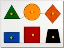 Little Genius Inset Shape Board Small With Knob