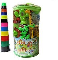 V.T. Zoo Blocks With Stacking Tower (Multicolor)