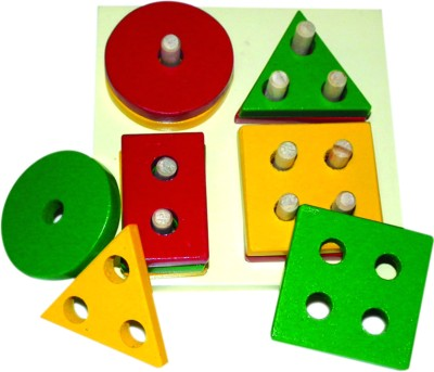 Kinder Creative Stacking Toys Kinder Creative Shapes and Colors Stacking Board