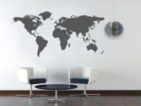 Decorze White Wall Decor World-Map Flower Stencil (Pack Of 1, Floral)