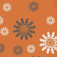Decorze Orange Wall Decor FS-14 Flower Stencil (Pack Of 1, Floral)