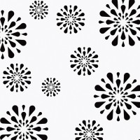 Decorze White Wall Decor FS-12 Flower Stencil (Pack Of 1, Floral)