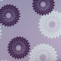 Decorze Purple Wall Decor FS-03 Flower Stencil (Pack Of 1, Floral)
