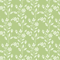Decorze Green Wall Decor KS-07 Flower Stencil (Pack Of 1, Floral)