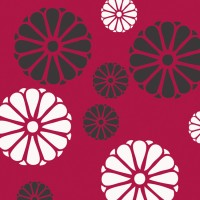 Decorze Pink Wall Decor FS-17 Flower Stencil (Pack Of 1, Floral)