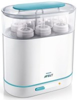 Philips Avent 3-in-1 Electric Steam Sterilizer - 6 Slots - 6 Slots (white/blue)