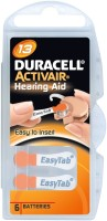 Duracell Activair Easytab Hearing Aid Batteries Size 13 (60 PCS) (orange)