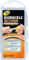 Duracell Activair Easytab Hearing Aid Batteries Size 10 (60 PCS) (yellow)