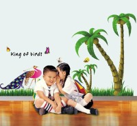 Oren Empower Home Decoration Coconut Tree Wall Sticker (65 Cm X Cm 120, Multicolor)