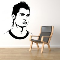 Decor Kafe Decal Style Ronaldo Tiny Size- 14*18 Inch Vinyl Film Sticker (Pack Of 1)
