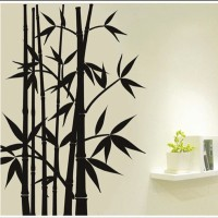 Oren Empower Popular Fashion Foreign Style Bamboo Wall Stickers (100 Cm X Cm 90, Black)