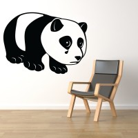 Decor Kafe Decal Style Sad Panda Wall Medium Size-21*15 Inch Color - Black Vinyl Film Sticker (Pack Of 1)